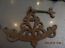 Vintage nautical cast brass pendulum inclinometer. Measure's ship's pitch.