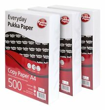 A4 Pukka Everyday 80gsm Plain White Paper. For Inkjet, Laser, Copy & Fax 3 reams