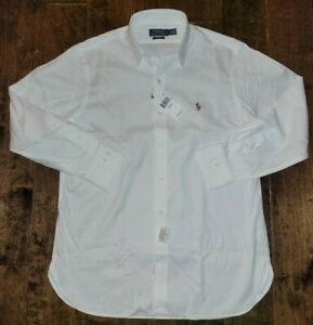 Polo Ralph Lauren Classic Fit Easy Care White Oxford Dress Shirt 16 32/33 $89.50