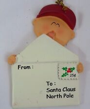 Ornament Central Boy Letter to Santa Claus