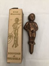 Vintage Manneken Boy Pee Drink Dispenser Brussels Novelty Funny Drinking Gift