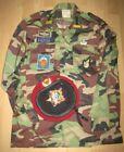 Replica Vietnam WAR ARVN Airborne Camouflage CAMO uniform Shirt & Red Beret