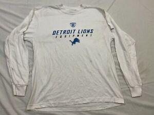 M154 Flawed REEBOK Detroit Lions Long Sleeve White Shirt Men's M