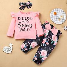 3Pcs Newborn Outfits  Kids Baby