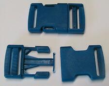 Steckschnalle-Klickverschluss 2 Stück für 30mm Gurtbreite Kunststoff Blau