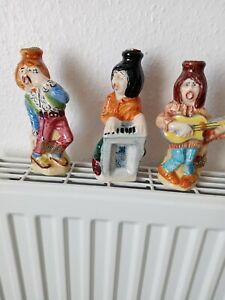 3 drioli miniature liqueur bottles, musicians rare 1971 small chip on one shoe