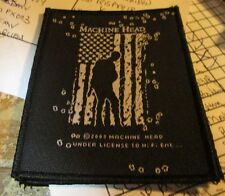 MACHINE HEAD PATCH  COLLECTABLE VINTAGE WOVEN  ENGLISH PICTURE