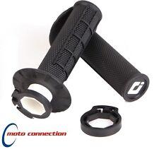 ODI V2 LOCK ON HANDLEBAR HALF WAFFLE GRIPS 2 STROKE BLACK KTM SX125 SX150 SX250
