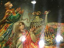 Fedoskino Russian Lacquer Box Maslov Vladislav Magic Carpet Ivan & Firedird