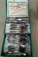 Antique 26 Piece WM. A Rogers Silverplate Silverware Set in Original Box