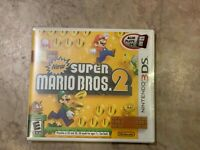 NEW Super Mario Bros. 2  (Nintendo 3DS, 2012) White Label Case First Print