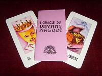 ORACLE DU VOYANT MASQUÉ- Ancien Tarot ésotérique jeu cartes divinatoires VINTAGE