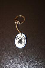 Mastiff Ceramic Disc Key Ring / Keyring - NEW - MUST L@@K! - LAST ONE!