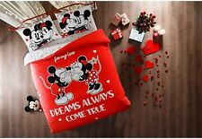 Glowing Mickey Minnie mouse Licensed Disney Duvet Quilt Cover Bedding Set Cotton