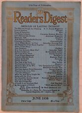 June 1938 Reader's Digest!!!