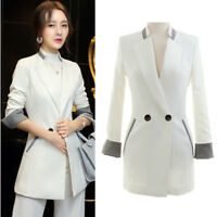 Womens Blazer Suit Coat Jacket Slim Business Office Work Cardigan Tops Outwear