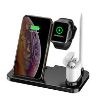 4 in1 Multifunctional Folding Wireless Charger Dock Stand for New Watch iPhone