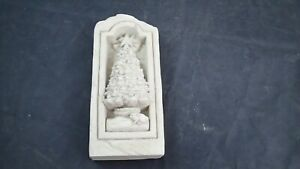 """1998 Carruth Studios 7"""" Christmas Tree Stone or Plaque Made in USA"""