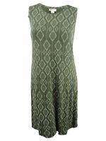 Style & Co. Women's Plus Size Printed Trapeze Dress
