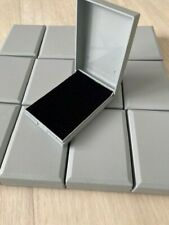 WHOLESALE JOBLOT 50 GREY JEWELLERY BOXES HINGED PENDANT NECKLACE EARRINGS