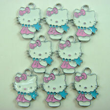 LOVELY 8 pcs Jewelry Making Metal Figure Pendant Charms For Hello Kitty + GIFT