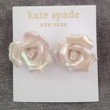Kate Shade White Flower Earrings