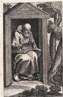 Portrait XVIIIe Saint MARCIEN DE STRIE Anachorète Cyr Cyrrhus Syrie 1711