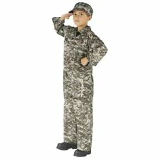 Authentic Issue Boy's Digital Camo Soldier Halloween Costume 12-14 Large #R15