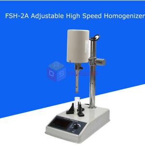 FSH-2A Adjustable High Speed Homogenizer Disperser Emulsifying Machine 220V