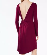 BCBGMaxAzria Celia Open-Back Jersey Dress L Retails $198