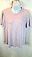 Old Navy Women's Blouse Top Short Sleeve Purple Stretchy Size Small New NWT