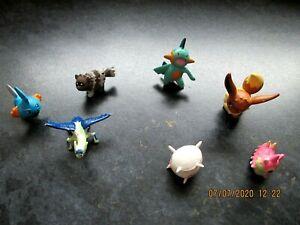 7 x Mini Pokemon figures 2005 including Eevee possible Cake Toppers