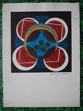 JEAN CUILLERAT (1927/1998) Aquarelle  -  MANDALA  8  - Signé