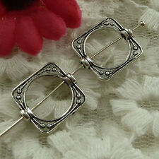 free ship 100 pieces Antique silver square spacer 15x14mm #2883