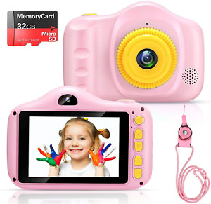 Voltenick Kids Camera Birthday Toys 3.5Inch 1080P HD Dual Lens Children