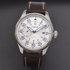 45mm Parnis silver dial Seagull mechanical Automatic Movement Men's Watch