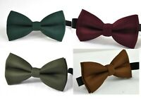 Emerald Green Burgundy Army Green Toffee Brown Bow tie for Men / Youth / Boy