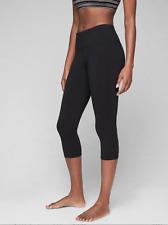 NEW ATHLETA High Rise Chaturanga Capri Tight Leggings M MEDIUM | Black Yoga