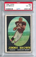 1958 Topps Football #62 Jim Brown Rookie Card PSA 4