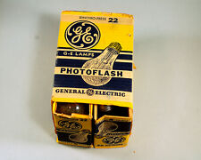 Vintage GE No.22 Photo flashbulbs, package of 6