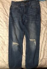 Express Distressed Knee Super Skinny Mid Rise Ultimate Stretch Jeans 8R