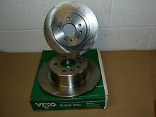 Vauxhall Omega All Models 1994 - 1999 VL817 Veco Solid Rear Brake Discs (Pair)