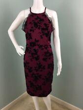 NWOT Womens Trixxi Floral Flocked Scuba Lace Trim Sheath Dress Sz XL Extra Large