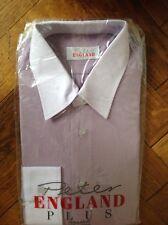 """Peter England Plus, Camicia, Colletto 15"""", colletto bianco e polsini, luce Viola"""