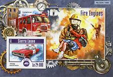 SIERRA LEONE 2015 Gomma integra, non linguellato Pompieri 1v S/S CAMION DODGE Polara FIRE CHIEF AUTO