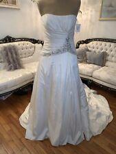 #325 Casablanca Wedding Gown Nwt Sz12 Boned Bodice