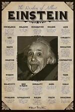 Albert Einstein : Quotes - Maxi Poster 61cm x 91.5cm (new & sealed)
