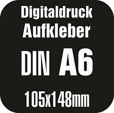 64 DIN A6 Digitaldruck Aufkleber Werbeaufkleber Sticker