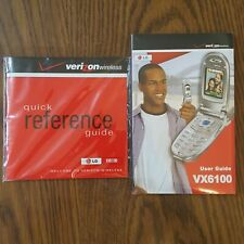 User Guide LG VX6100 Booklet & CD Quick Reference Guide Verizon Wireless New