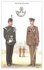 Postcard The British Army Series No.33 The Light Infantry by Geoff White
